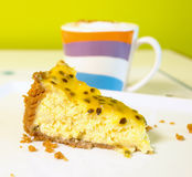 Passion fruit cheesecake Stock Photo