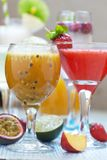 Passion fruit cocktail Royalty Free Stock Images