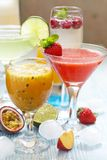 Passion fruit cocktail Stock Photos