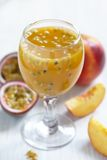 Passion fruit cocktail Stock Images