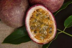Passion fruit background stock photos