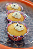 Passion fruit cupcakes Royalty Free Stock Photography