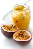 Passion fruit curd Stock Photography