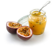 Passion fruit curd Royalty Free Stock Images
