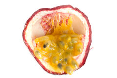 Passion fruit cut open Royalty Free Stock Photos
