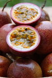 Passion fruit details Royalty Free Stock Images
