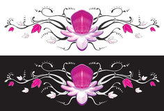 Passion fruit flower tattoo. Royalty Free Stock Images
