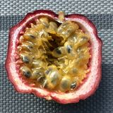 Passion fruit. Fresh cuted fresh passion fruit royalty free stock photo