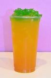 Passion fruit green tea Royalty Free Stock Photo