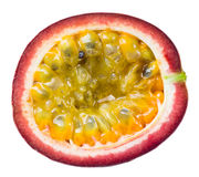 Passion fruit. Half isolated on white Stock Photography