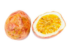 Passion fruit. Isolate the red passion fruit Royalty Free Stock Photos