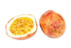 Passion fruit. Isolate the red passion fruit Stock Photos