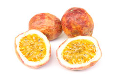 Passion fruit. Isolated the red passion fruit Stock Photography