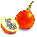 Passion Fruit  Isolated Royalty Free Stock Photos