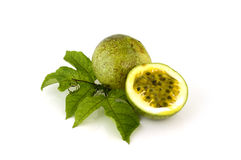 Passion fruit isolated on white backgroun Royalty Free Stock Photo