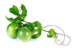 Passion Fruit isolated on the white background Stock Photo