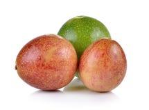 Passion fruit isolated on white background Stock Photos