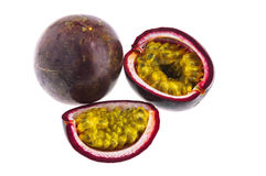 Passion fruit isolated on white background with cl Stock Image