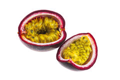 Passion fruit isolated on white background with cl Royalty Free Stock Photography