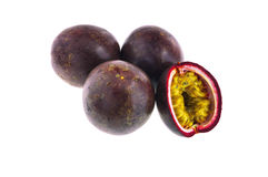 Passion fruit isolated on white background with cl Royalty Free Stock Photos