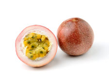 Passion fruit isolated on white background Royalty Free Stock Photos
