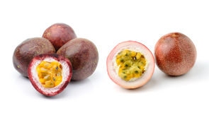 Passion fruit isolated on white background Stock Photos