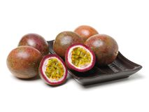 Passion fruit. Isolated on white background royalty free stock photography