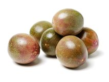 Passion fruit. Isolated on a white background royalty free stock photography