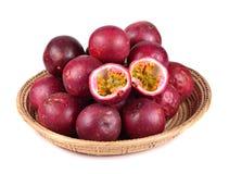 Passion fruit isolated on white background. Royalty Free Stock Photo