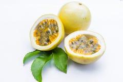 Passion fruit on white. Passion fruit isolated on white background royalty free stock photos
