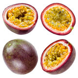 Passion fruit isolated on white. Collection Royalty Free Stock Photo