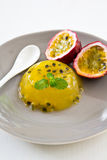 Passion fruit jelly Royalty Free Stock Photo
