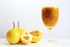 Passion fruit juice. Royalty Free Stock Photos