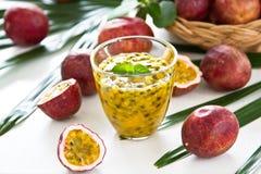 Passion fruit juice Stock Photo