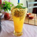 Passion fruit juice stock image