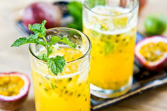 Passion fruit with Lychee Mojito Stock Image