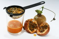 Passion-fruit or maracuya Stock Photography