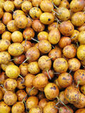 Passion fruit at the market. Photo of passion fruit at marketplace Royalty Free Stock Photography