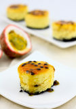 Passion fruit cheese cake Royalty Free Stock Photos