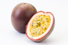 Passion fruit oisolated on white Stock Image