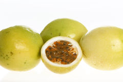 Passion fruit (Passiflora edulis) Stock Photo