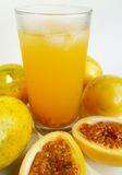 Passion fruit (Passiflora edulis) juice Stock Image