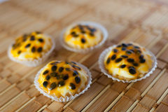 Passion fruit pie Royalty Free Stock Image
