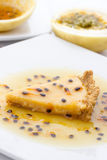 Passion fruit pie Royalty Free Stock Photo