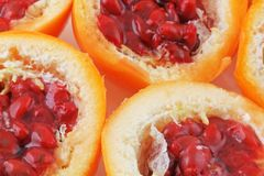 Passion fruit. A plan view of passion fruit haves Royalty Free Stock Photo