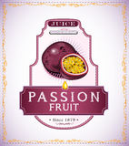 Passion fruit product label Stock Photography