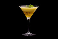 Passion Fruit Pudding in Glass stock image