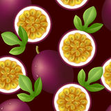 Passion fruit seamless pattern Royalty Free Stock Images