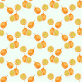 Passion fruit. Seamless watercolor pattern Stock Photography