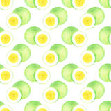 Passion fruit. Seamless watercolor pattern Royalty Free Stock Image